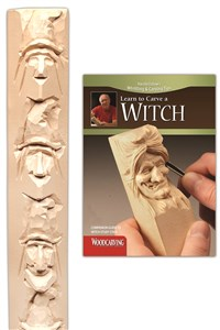 Witch Study Stick Kit (Learn to Carve Faces with Harold Enlow)