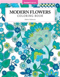 Modern Flowers Coloring Book