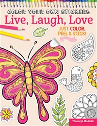 Color Your Own Stickers Live, Laugh, Love