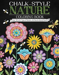 Chalk-Style Nature Coloring Book