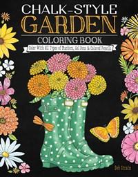 Chalk-Style Garden Coloring Book