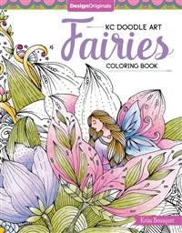 KC Doodle Art Fairies Coloring Book