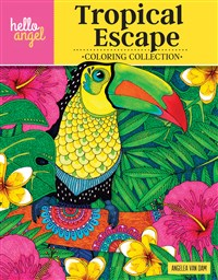 Hello Angel Tropical Escape Coloring Collection