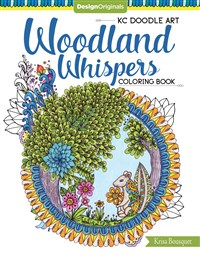 KC Doodle Art Woodland Whispers Coloring Book