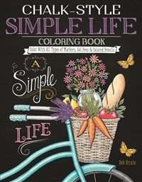 Chalk-Style Simple Life Coloring Book