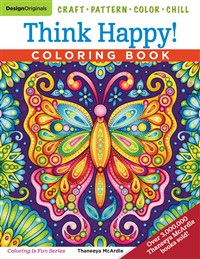 Think Happy! Coloring Book