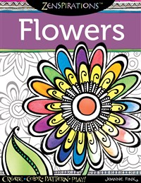 Zenspirations Coloring Book Flowers