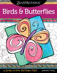 Zenspirations Coloring Book Birds & Butterflies