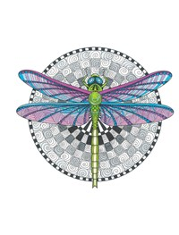 TangleEasy Guided Journal Dragonfly
