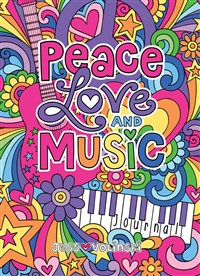 Notebook Doodles Peace Love and Music Guided Journal
