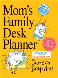 Mom's Family Desk Planner Calendar 2018