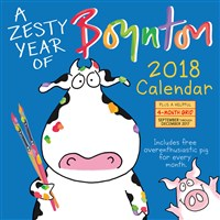 A Zesty Year of Boynton Wall Calendar 2018