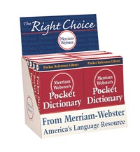 Merriam Webster Pocket Dictionary 12-Copy Counter Display
