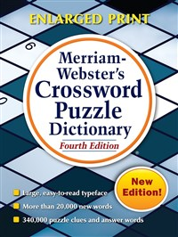 Merriam  Webster Crossword Dictionary Enlarged 4 edition