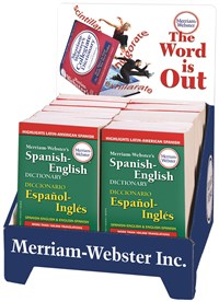 12-Copy Spanish-English Dictionary Counter Display