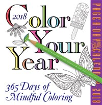 Color Your Year Page-A-Day Calendar 2018