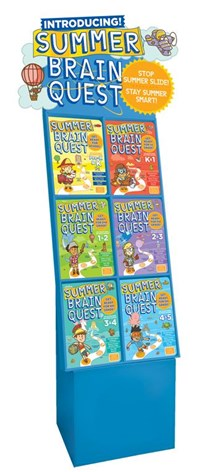 Summer Brain Quest 48-copy mixed floor display – PreK–6