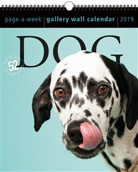 Dog Page-A-Week Gallery Wall Calendar 2019