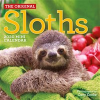 Original Sloths Mini Wall Calendar 2020