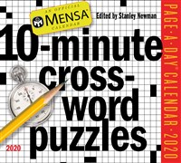 Mensa 10-Minute Crossword Puzzles Page-A-Day Calendar 2020