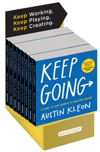Keep Going 8-copy counter display