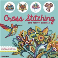 Cross Stitching 2019 Wall Calendar