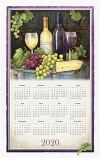 Wine Country 2020 Calendar Towel
