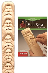 Wood Spirit Study Stick Kit (Learn to Carve Faces with Harold Enlow)