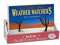 The Old Farmer's Almanac 2017 Weather Watcher's Calendar 20-copy Counter Display