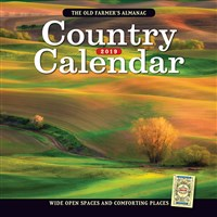 2019 Old Farmer's Almanac Country Calendar