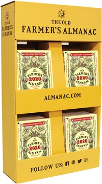 40-Copy Hanging Power Wing, 40 Old Farmer's Almanacs