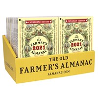 24-Copy Counter Display, 24 2021 Old Farmer's Almanacs
