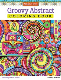 Groovy Abstract Coloring Book