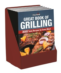 Char-Broil Great Book of Grilling 6-copy single pocket display