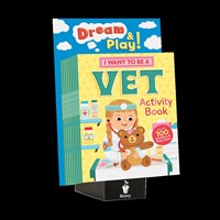 10-copy counter display I Want to Be a Vet Activity Book