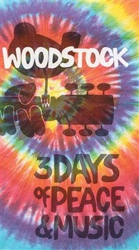 Woodstock Lined Journal Tie-Dye Logo