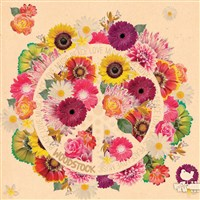 Woodstock Unlined Journal Flower Power