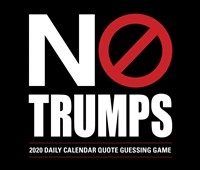 No Trumps 2020 Box Calendar