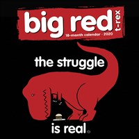 Big Red T-Rex 2020 Wall Calendar