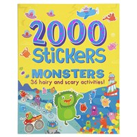 2000 Stickers Monster Activity Book