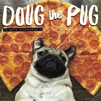 2018 Doug the Pug Wall Calendar