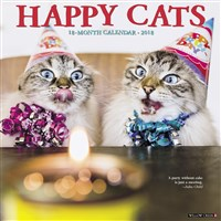 2018 Happy Cats Wall Calendar
