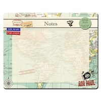 Vintage Map Tear Off Desk Pad