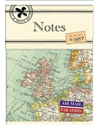 Vintage Map Mini Magnetic Notebook