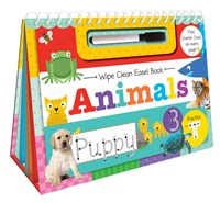 ANIMALS WIPE CLEAN EASEL BOOK (Spiral bound)