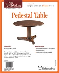 Fine Woodworking's Pedestal Table Plan