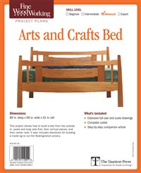 Fine Woodworking's Arts and Crafts Bed Plan