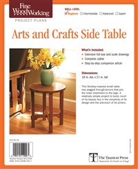 Fine Woodworking's Arts and Crafts Side Table Plan