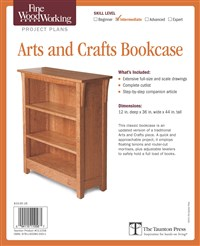 Fine Woodworking's Arts and Crafts Bookcase Plan