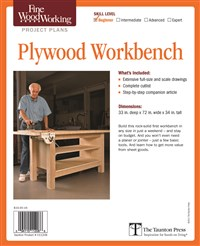 Fine Woodworking's Plywood Workbench Plan